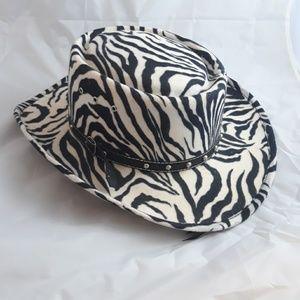 Western Express Inc Cowboy Hat Western Zebra 7 1/2